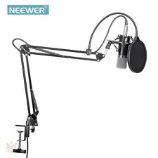 Professional Condenser Microphone Shure Vocal Studio Recording Arm Stand Kit NEW