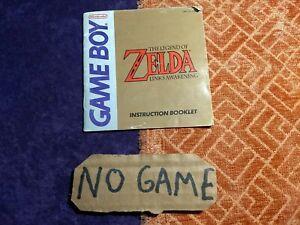 Zelda Link's Awakening GameBoy, Just Manual, Wear