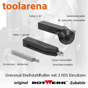 Universal Drehstahlhalter mit HSS-Drehlingen - für Rotwerk Drehmaschinen