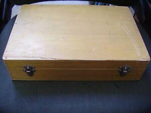 Rare Large Vintage WOOD 70mm Photographic Slide Box Case