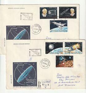 ROMANIA COVER 1983 OBERTH COANDA ASTRONAUTICS USED FIRST DAY POST HISTORY COSMOS