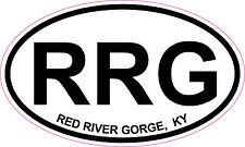 Red River Gorge Kentucky Oval Vinyl Sticker Decal 5x3