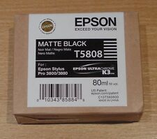 GENUINE EPSON T5808 Matte Black cartridge ORIGINAL 80ml C13T580800 3800 3880 ink