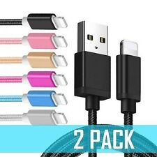 iPhone Charger Cable USB 3FT Heavy Duty 5 6 7 8 Plus X For Apple PACK OF 2 Cord
