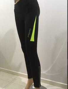 Jaggad Fleece Long Cycling leggins Tights Pants bike Women/Girls XXS- Black/Lime
