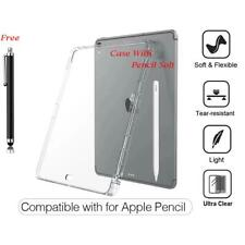 Ultra Thin Soft TPU Protective Silicon Cover Case with Pen Holder For Apple iPad