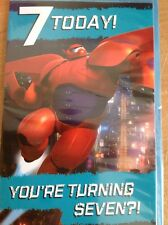 Clintons Disney Big Hero 6 Birthday 7 7th Card Fast Deliver