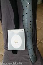 tights polyamide silk black CHRISTIAN DIOR SLIM MARYSA size 8 1/2 (1) NEW