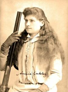 ANNIE OAKLEY - Repro-Autogramm 20x27cm Großfoto