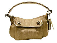 NWT COACH POPPY STORYPATCH GROOVY GOLD PURSE BAG 15302