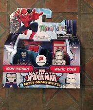 Marvel Minimates IRON PATRIOT & WHITE TIGER Walgreens Spider-man Web Warriors