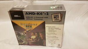 AMD-K6-2 PROCESSOR 400MHZ Super Socket 7 with Heatsink & Fan. Sealed retail box.