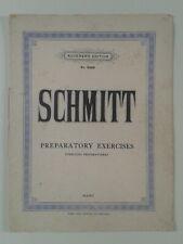 AUGENER'S EDITION No.6388 ALOYS SCHMITT PREPARATORY EXERCISES  STUDIES FOR PIANO