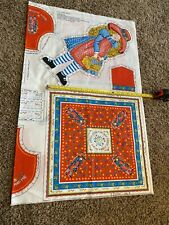 Vintage Fabric Holly Hobbie Panel 1970's Cut And Sew Stuffed Doll Pillow Purse