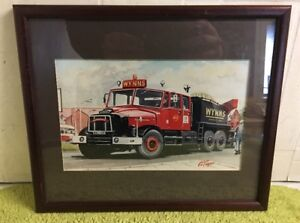 Lovely Fire Engine Print By G S Cooper