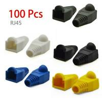 100 Pcs Network RJ45 Cable Ends Plug Cover Boots Cap Cat6 Safety Cat5 U7J1 G5S0