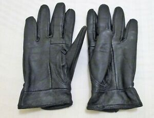 guantes de piel de señona, talla mediana, negro