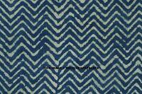 5/10 Yard Indian Blue Indigo Hand Block Print Cotton Fabric Dressmaking Sewing