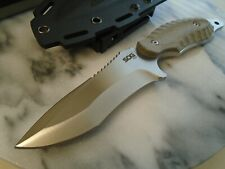 "SOG Kiku Combat Hunter Bowie Knife KU-2021 VG-10 5mm Full Tang Micarta 8 1/2"" OA"