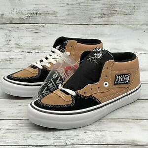 Vans Half Cab Pro Skate Shoes Camel Beige Black Suede Canvas Men's Size 7 New