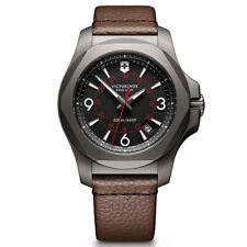 Victorinox Swiss Army Men's Watch I.N.O.X. Titanium Brown Leather Strap 241778