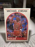 MICHAEL JORDAN 1989-1990  First HOOPS  Card #200  BULLS Well Centered Ding PWE