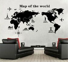 DIY World Map Trip Mural Wall Sticker Removable Decals Kids Room Home Art Decors
