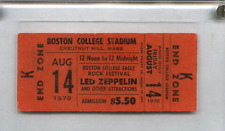 AUG. 14, 1970 LED ZEPPELIN  ORIGINAL UNUSED FULL TICKET BOSTON COLLEGE