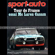 SPORT AUTO N°116 FORD CAPRI FRANCOIS CEVERT SIMCA 1100 S BMW 3.0 CS PORSCHE 1971