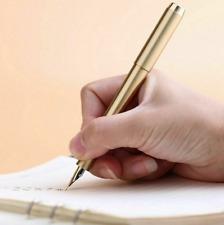 Latest DELIKE Brass Fountain Pen Iridium Fine Nib 0.5mm Office Writting Pen Gift
