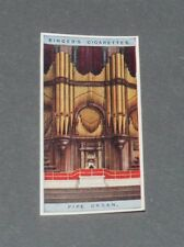 CIGARETTES CARD EDWARDS RINGER 1924 MUSICAL INSTRUMENTS N°16 PIPE ORGAN