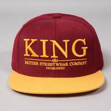 King Starter Krest Select Burgundy Yellow Snapback Hat Cap