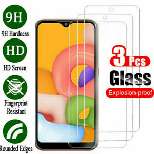 3Pcs Tempered Glass Screen Protector For Samsung Galaxy A71 A51 A41 A31 A11 A01