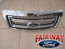 09 thru 14 Ford F150 OEM Genuine Ford 2 Bar Chrome Grille Grill w/Emblem NEW