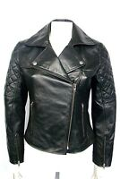 Celine Ladies Biker Fashion Designer Casual Style Black Lambskin Leather Jacket