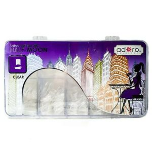 Adoro Half-Moon Nail Tips in Clear 500pcs/canister