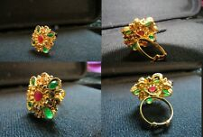 Traditional Desi Kundan Ring With Fancy Accent. Indian/Pakistani Party Wear