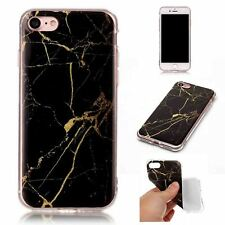 """Marble Black Gold Matte TPU Leather Soft Material Case For Apple iPhone 7/8 4.7"""""""