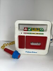 Vintay Fisher Price Tape Cassette Player Recorder with Microphone