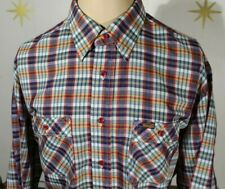 New listing Vintage 80s Men's Wrangler Hippie Country Plaid Button Front L/S Shirt Xl