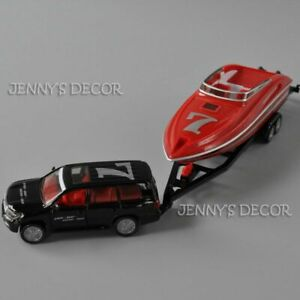 Siku 2543 Diecast 1:55 Car with Motorboat Speed Boat Yacht Model Toy Collection