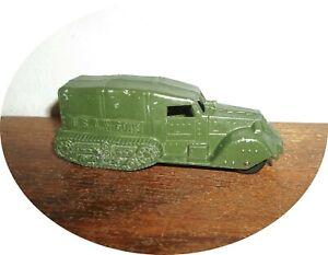 D130~NICE  1940's U S  Army Half Track With Cannon ~ TOOTSIETOY / BARCLAY