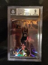 1998-99 HOOPS SLAM BAMS #5 TIM DUNCAN- LE 100- MISSING SERIAL #- 1/1-THE RAREST