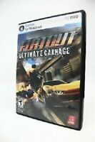 Flatout Ultimate Carnage Video Game (Windows PC DVD, 2008) Complete, Never used