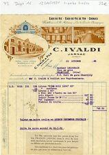 Dépt 16 - Jarnac - Superbe Entête Distillerie à l'ile Madame C. IVALDI de 1935