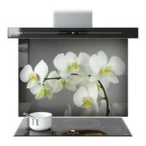 Splashback Kitchen Toughened Glass ANY SIZE FHD White Orchid Flowers 66415228n