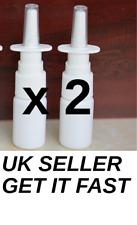 2(Two) x 10ml Fine Mist Nasal Spray Pump Bottle (Empty, Refillable)