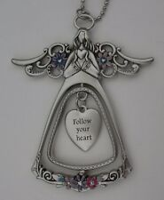 ood Follow your heart ANGEL BLESSINGS 3D CAR CHARM MIRROR ORNAMENT Ganz
