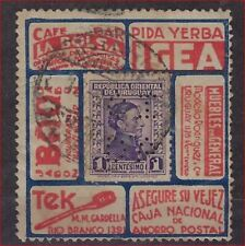 PERFIN / PERFO URUGUAY ADVERTISING STAMP ?? ; condition see 2 scans !