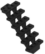 ☀️NEW LEGO 1x Open STAIRCASE 7x4x6 BLACK Stairs 7 x 4 x 6 Straight Open